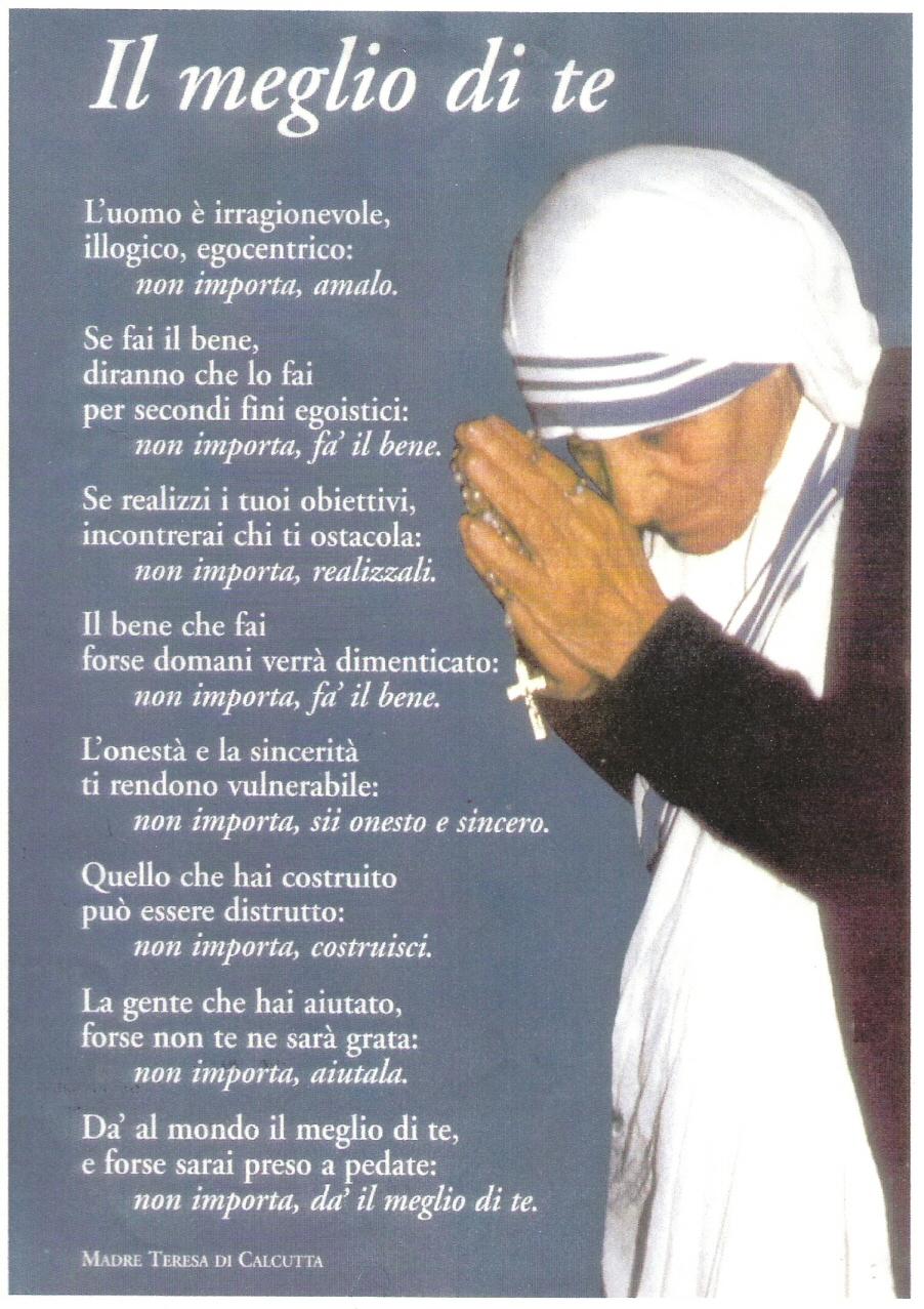 Frasi Matrimonio Madre Teresa.Madre Teresa Di Calcutta Il Terzo Orecchio