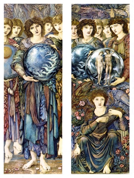 Edward Burne-Jones - The Angels of Creation - Days 5 and 6 - 1875-76