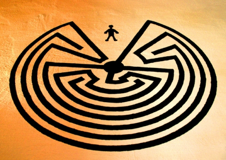 man-in-the-maze