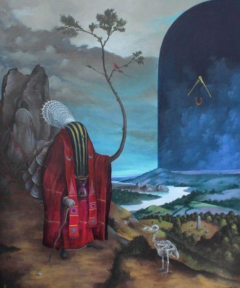 El-Gato-Chimney-_-Luce-silenziosa-_-2012-Acrilico-Tela-_-50x60cm-