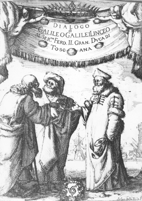 Frontispiece for Dialogue Concerning the Two Chief World Systems, by Stefano Della Bella, engraving