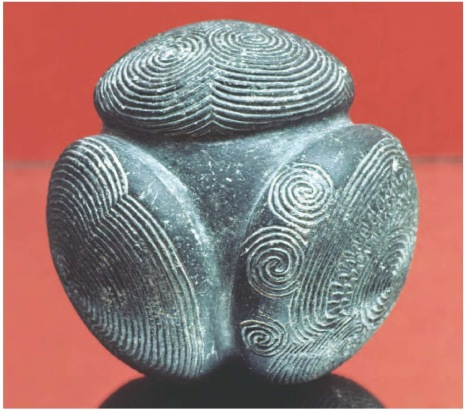 Neolithic Sites of the Orkney Islands Decorated stone artifact from the Neolithic site of Skara Brae