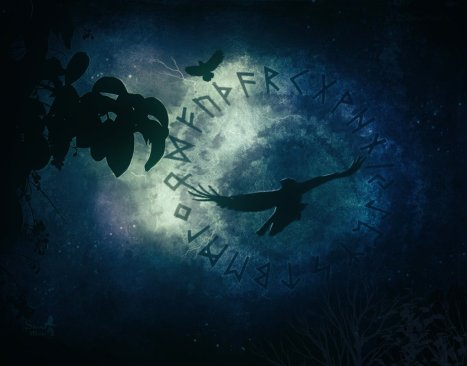 runes___ravens_by_silvanamassaart-d7ti4wm
